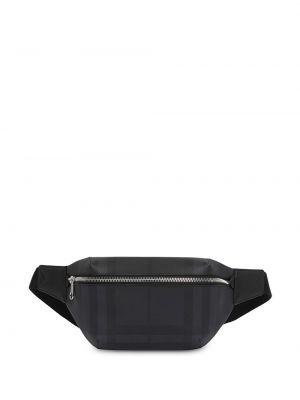 Кожаная черная поясная сумка Burberry
