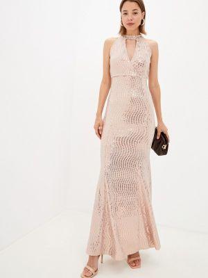 Бежевое платье осеннее Zibi London