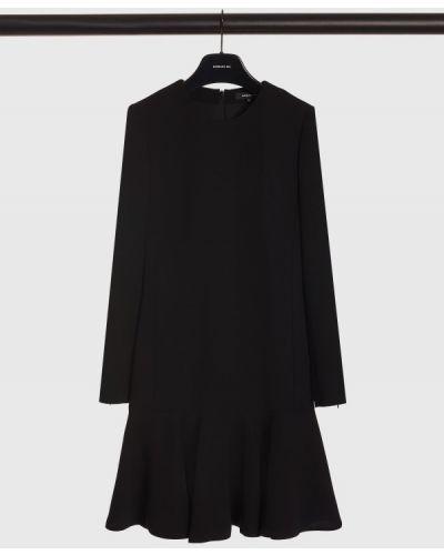 Платье с оборками - черное Barbara Bui