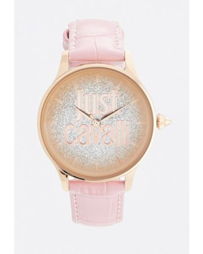 Розовые кварцевые часы Just Cavalli