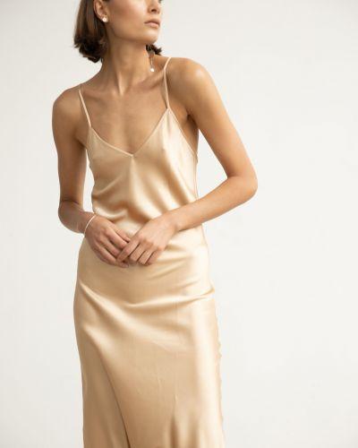 Шелковое платье с вырезом Serenity