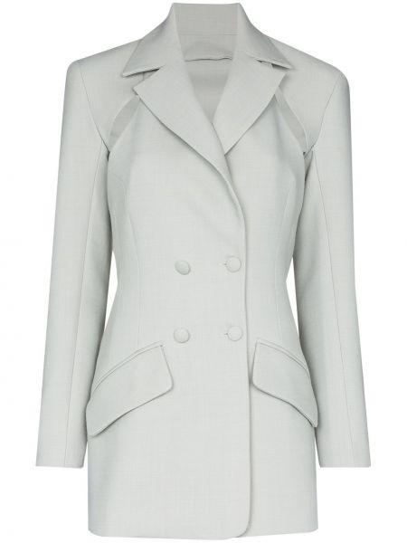 Серый пиджак двубортный с карманами Matériel