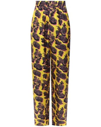 Свободные желтые брюки свободного кроя Stella Mccartney