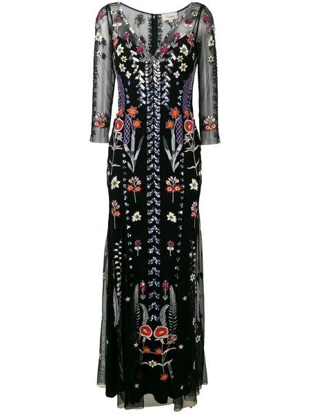 Платье сетчатое с V-образным вырезом Temperley London