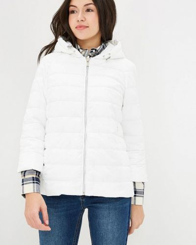 Белая утепленная куртка Grishko