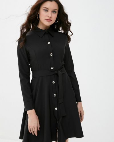 Черное платье-рубашка Pink Summer