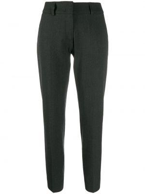 Шерстяные серые укороченные брюки с карманами с высокой посадкой Piazza Sempione
