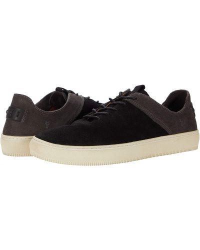 Замшевые кроссовки - черные Frye