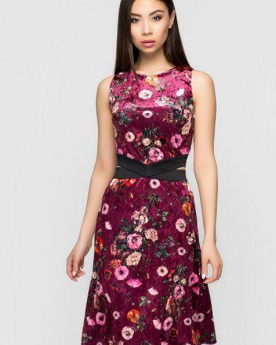 Коктейльное платье весеннее красный A-dress