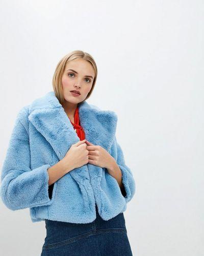 Голубая дубленка Diane Von Furstenberg