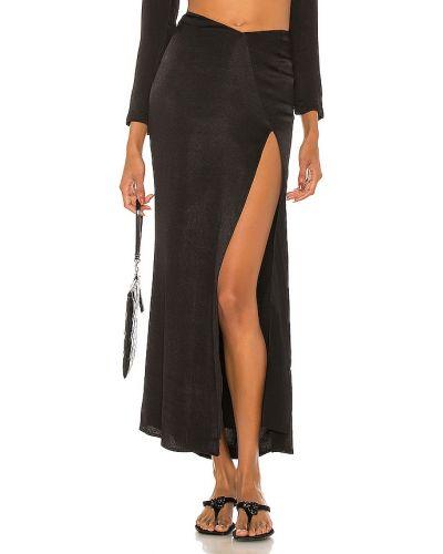 Włókienniczy czarny spódnica z zamkiem błyskawicznym prążkowany Atoir