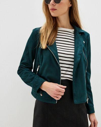 Кожаная куртка осенняя зеленая Dorothy Perkins