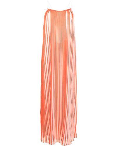 Плиссированное оранжевое платье с вырезом Bambah