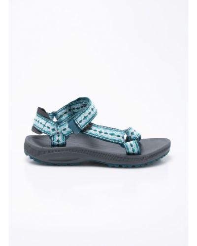 Зеленые сандалии текстильные Teva