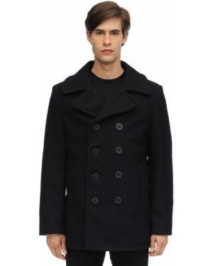 Płaszcz wełniany pikowany Schott