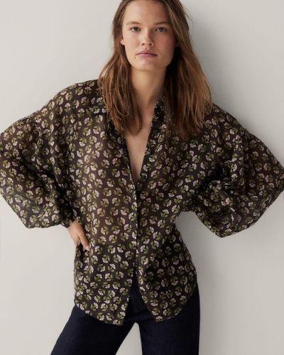Коричневая блузка Massimo Dutti