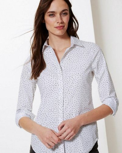 Рубашка с длинным рукавом белая Marks & Spencer