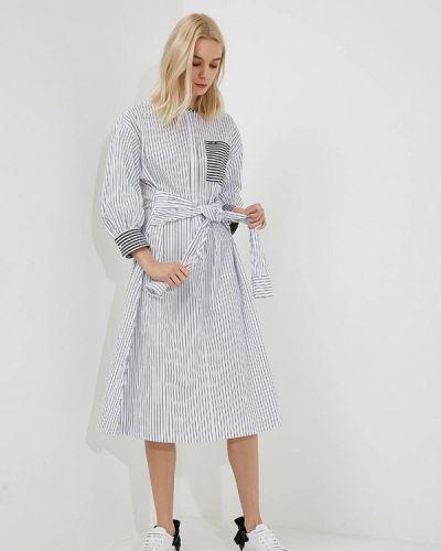 Белое платье прямое Karl Lagerfeld
