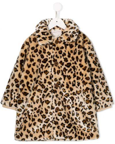 Классическое коричневое длинное пальто Tiny Cottons