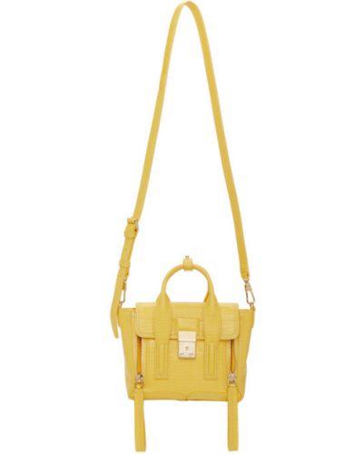 Żółty z paskiem tornister z klamrą 3.1 Phillip Lim