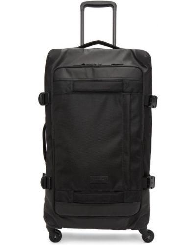 Czarny walizka z płótna dwustronny z łatami Eastpak