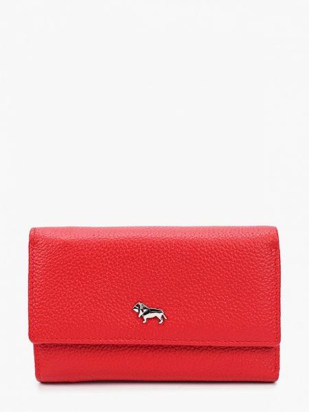 Красный кошелек из натуральной кожи Labbra