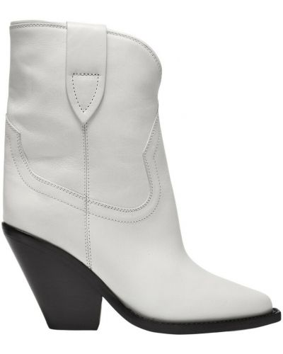 Białe ankle boots Isabel Marant