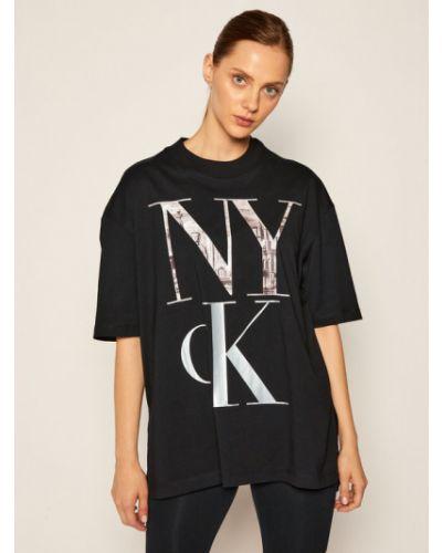 Czarny koszula jeansowa Calvin Klein Jeans