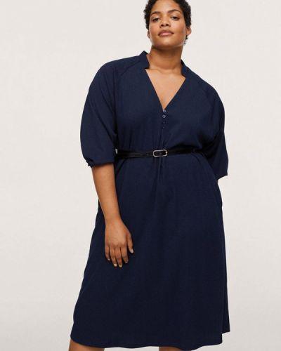Повседневное платье - синее Violeta By Mango