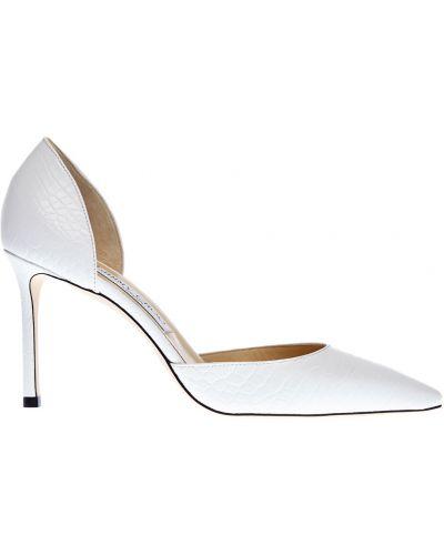 Открытые белые мягкие туфли-лодочки с сеткой Jimmy Choo