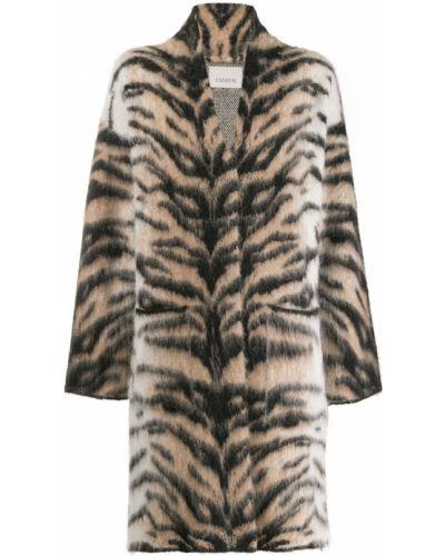 Шерстяное черное пальто Laneus