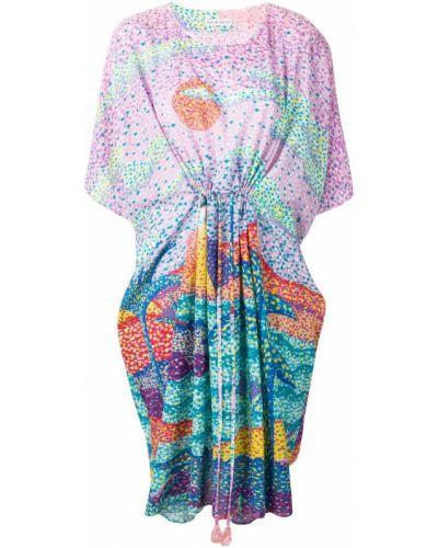 Платье мини розовое с вырезом Tsumori Chisato