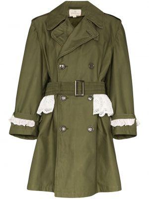 Długi płaszcz zapinane na guziki z kieszeniami Rentrayage