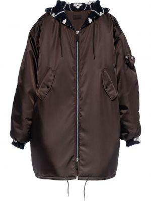 Płaszcz przeciwdeszczowy - brązowy Prada