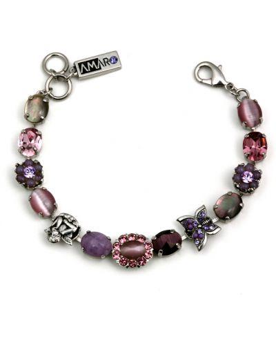 Фиолетовый браслет с аметистом Amaro