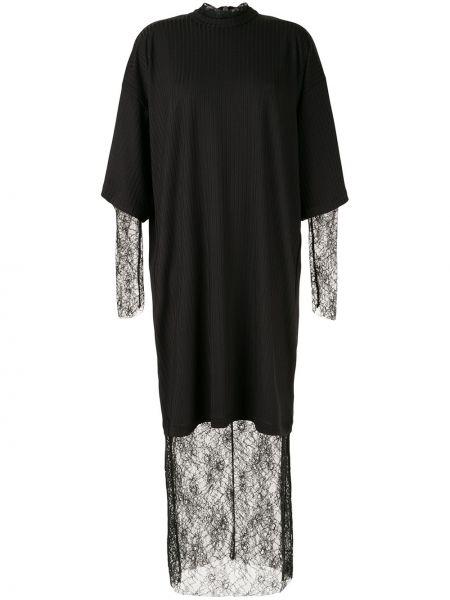 Платье макси длинное - черное Strateas Carlucci