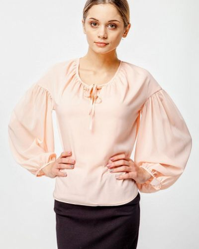 Блузка с длинным рукавом розовая Nai Lu-na By Anastasia Ivanova