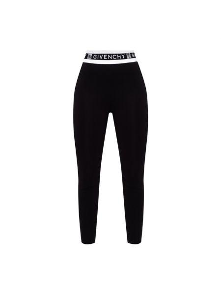Czarne spodnie z wysokim stanem Givenchy