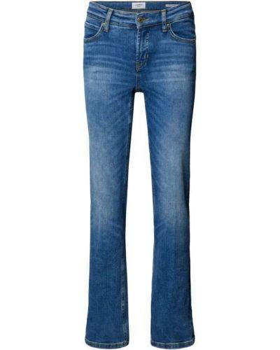 Niebieskie jeansy z niskim stanem Cambio