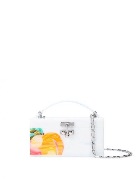 Акриловая белая сумка Edie Parker