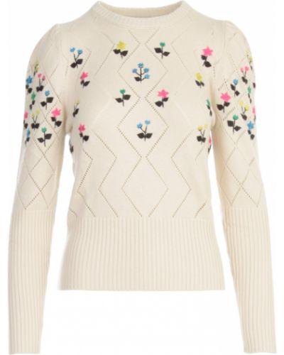 Beżowy sweter w kwiaty Essentiel Antwerp