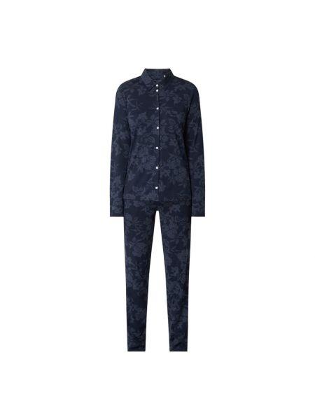 Niebieska spodni piżama bawełniana z długimi rękawami Marc O'polo