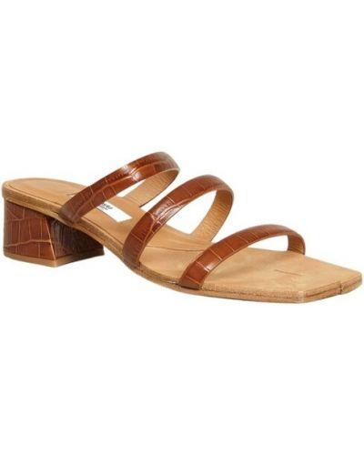 Brązowe sandały skórzane Miista