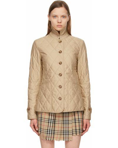 Белая куртка с заплатками Burberry