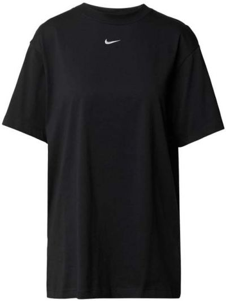 Czarny t-shirt bawełniany z haftem Nike