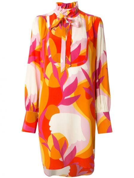 Платье с абстрактным принтом с рукавами Rebecca Vallance