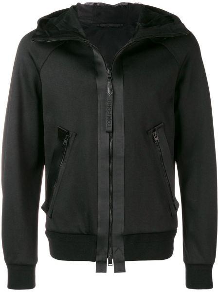 Długa kurtka z kapturem czarna Tom Ford