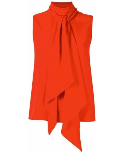 Прямой оранжевый топ без рукавов Paule Ka