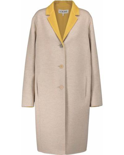 Бежевое кашемировое пальто Loewe