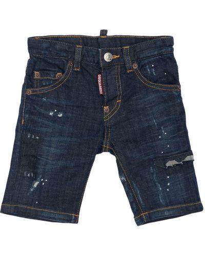 Bawełna niebieski jeansy z kieszeniami Dsquared2